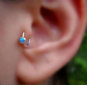 tragus piercing captive bead ring jewelry