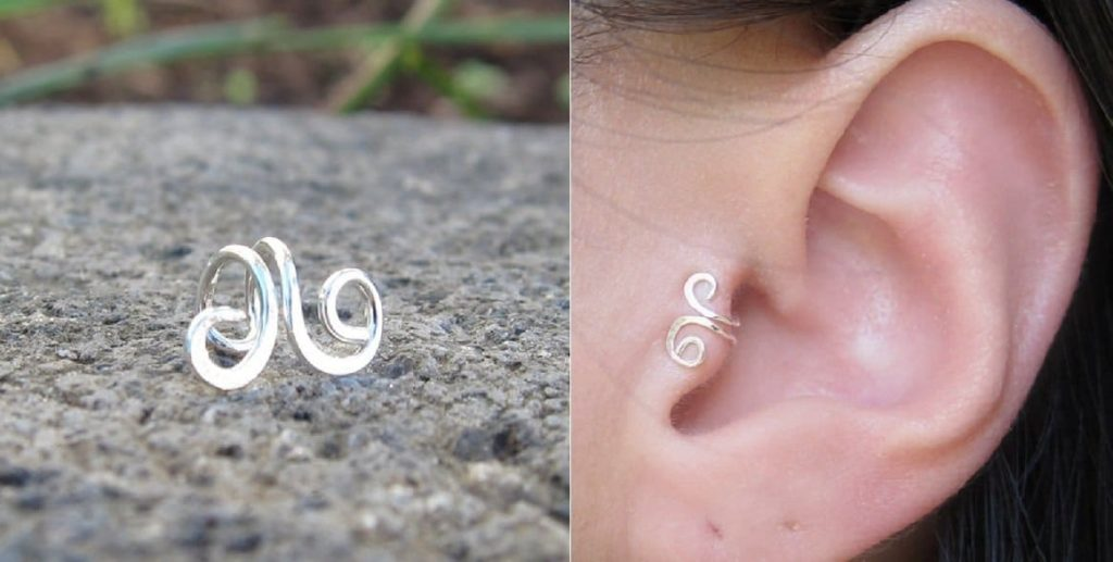 Tragus Piercing Ear Cuffs jewelry