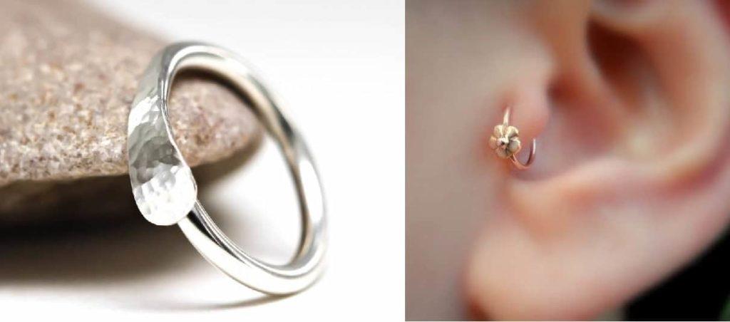 Tragus piercing Hoop Earring