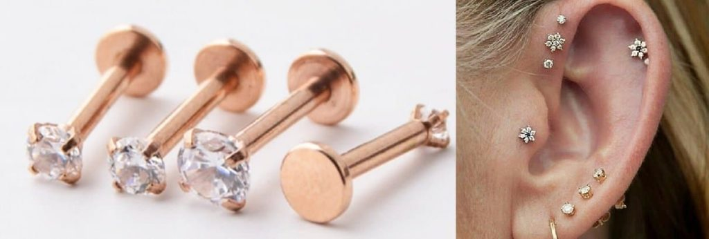 Tragus piercing Stud jewelry