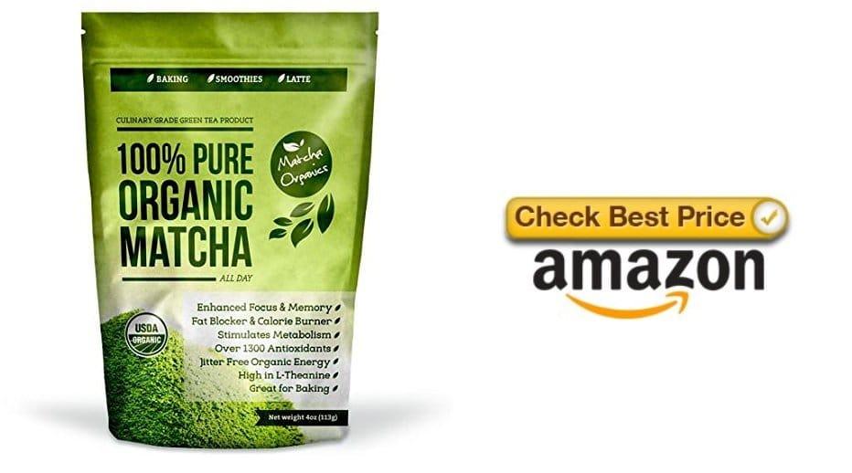 Natural Matcha Green Tea Powder for migraines